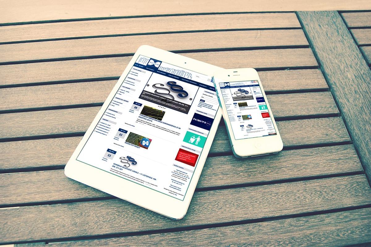 Portal informacyjny - wizualizacja projektu